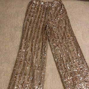 Funky sequin pants!